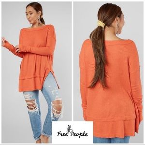 NEW Free People North Shorr Thermal Waffle Tunic